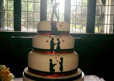Love Is In The Air Wedding Cake