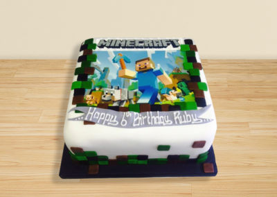 Minecraft cake by Bakers Lane
