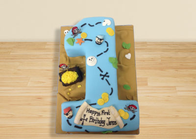 Pirate Number 1 cake by Bakers Lane