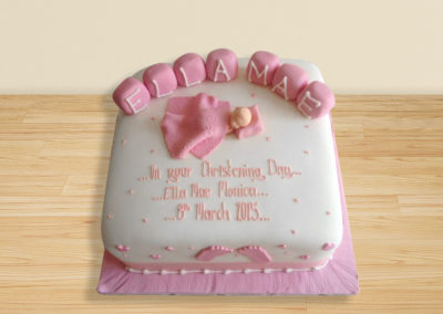Baby Blanket Christening cake by Bakers Lane