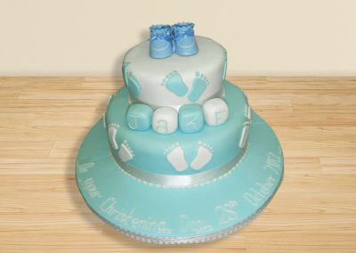 Bootie Christening cake by Bakers Lane
