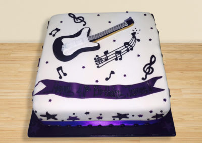 Guitar cake by Bakers Lane