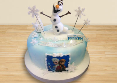 Olaf from Frozen skating cake by Bakers Lane