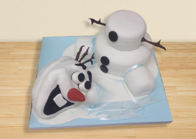 Olaf from Frozen cake by Bakers Lane