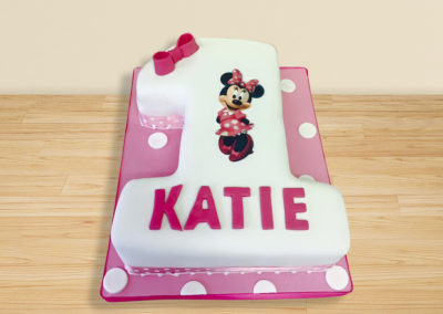 Disney Minnie Mouse No1 cake by Bakers Lane