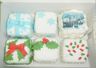 Mini Christmas Cakes by Bakers Lane